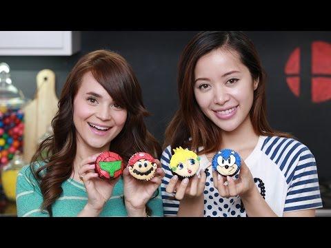 SUPER SMASH BROS CUPCAKES ft. Michelle Phan - NERDY NUMMIES