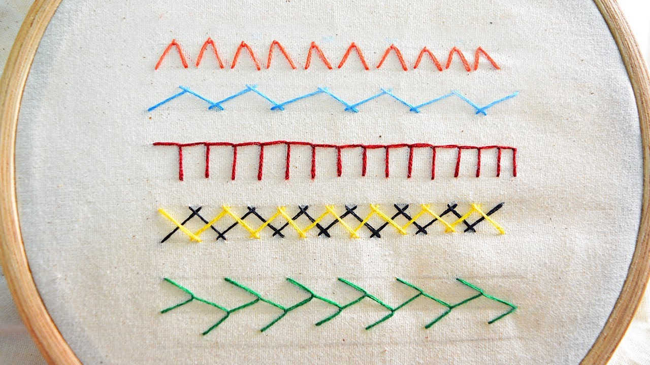Basic Hand Embroidery Stitches Tutorial For Beginners Part 2 Youtube