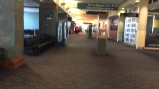 Short walk at T.F. Green Airport in Providence, Rhode Island
