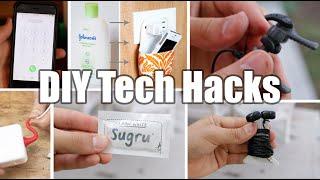 5 AWESOME DIY Tech Hacks!