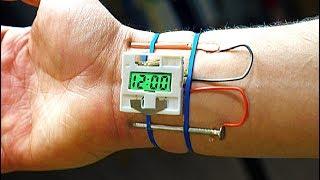 Experiment! Eine Uhr  mit Menschlichen Körper angetrieben.