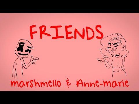 Marshmello & Anne-Marie - FRIENDS (Lyric Video) *OFFICIAL FRIENDZONE ANTHEM*