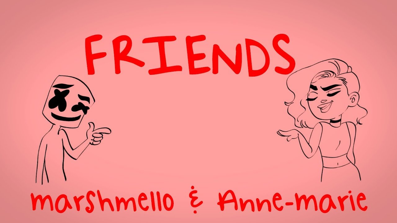 Marshmello & Anne-Marie - FRIENDS (Lyric Video)