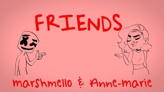 Marshmello Anne-Marie - FRIENDS Lyric Video OFFICIAL FRIENDZONE ANTHEM