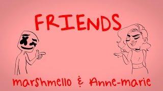 Marshmello & Anne Marie   Friends (lyric Video) *official Friendzone Anthem*