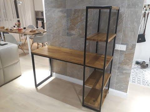 Стол-стеллаж в стиле лофт
