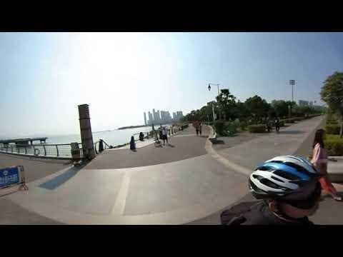 Unicycle October ride along Shenzhen Bay China, #theta30, #Gotway MCM4