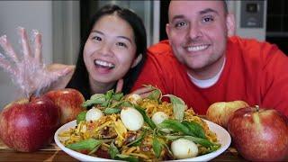 Vlog 399| Bánh Tráng Trộn Tự Tay Chồng Mỹ Trộn.Ngon Tuyệt Đỉnh Hương Vị Việt 😁