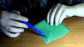 Лягушка из бумаги(большая и маленькая,видеоурок)