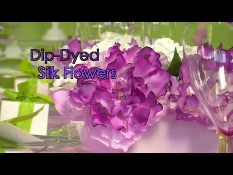 How To Dip-Dye Silk Flowers