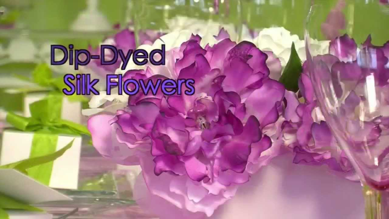 How To Dip Dye Silk Flowers Youtube