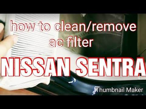 how to remove/clean ac filter NISSAN SENTRA
