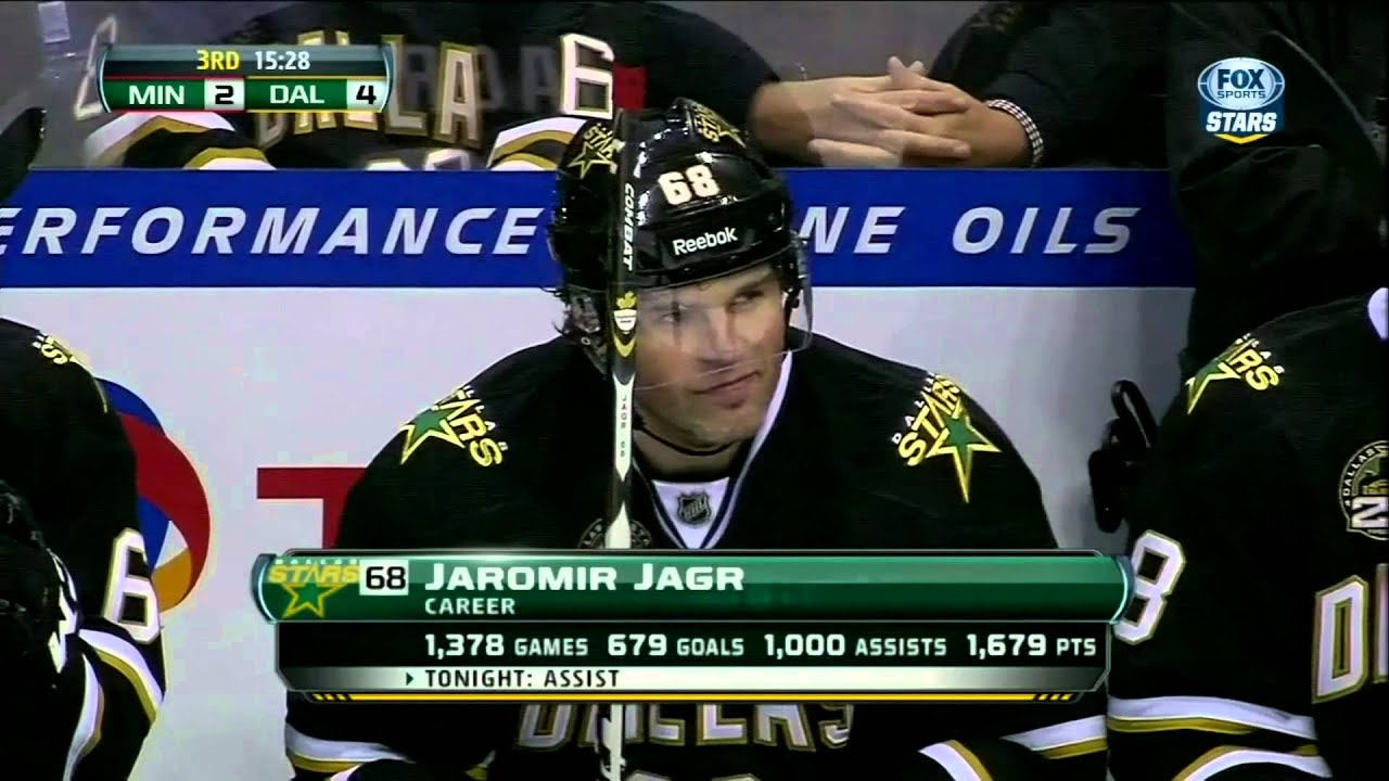 maxresdefault jamie benn ppg 4 2 jaromir jagr 1000th assist mar 29 2013