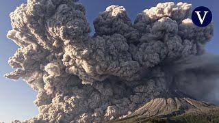 Un impresionante timelapse muestra la erupción del volcán Sinabung