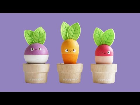 Stacking Veggies | Petilou© Collection | Le Toy Van | Traditional Wooden Toys
