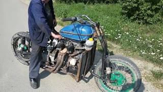 ПЕРВЫЙ ВЫЕЗД. Мотоцикл с двигателем от Ваз 2109. Часть 11.