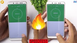 Redmi Note 5 Pro Oreo vs Nougat MIUI Speedtest