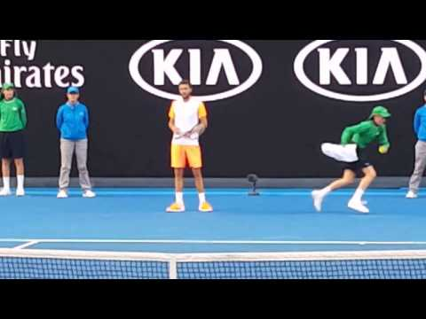 Milos Raonic v Gilles Simon Australian Open 2017 Court level