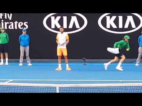 Milos Raonic v Gilles Simon Australian Open 2017 Court level