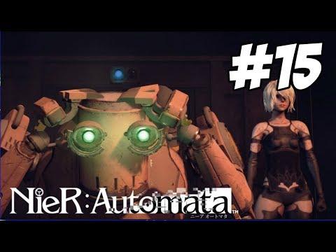 NieR: Automata - Walkthrough PART 15 | FAREWELL PASCAL & FLOODED CITY RESOURCE UNIT【PS4 1080p】