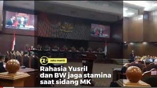 Rahasia Yusril dan BW jaga stamina saat sidang MK