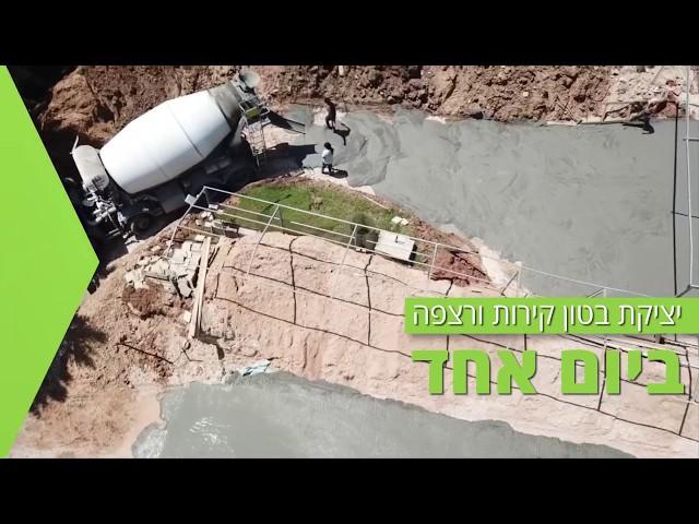 בניית בריכה חצי אולימפית עם מערכת אפגד ICF במושב ביצרון