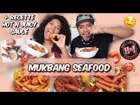 mukbang-seafood-🦀🦐🦞-recette-👩🏾🍳-_-hot-n-juicy-sauce