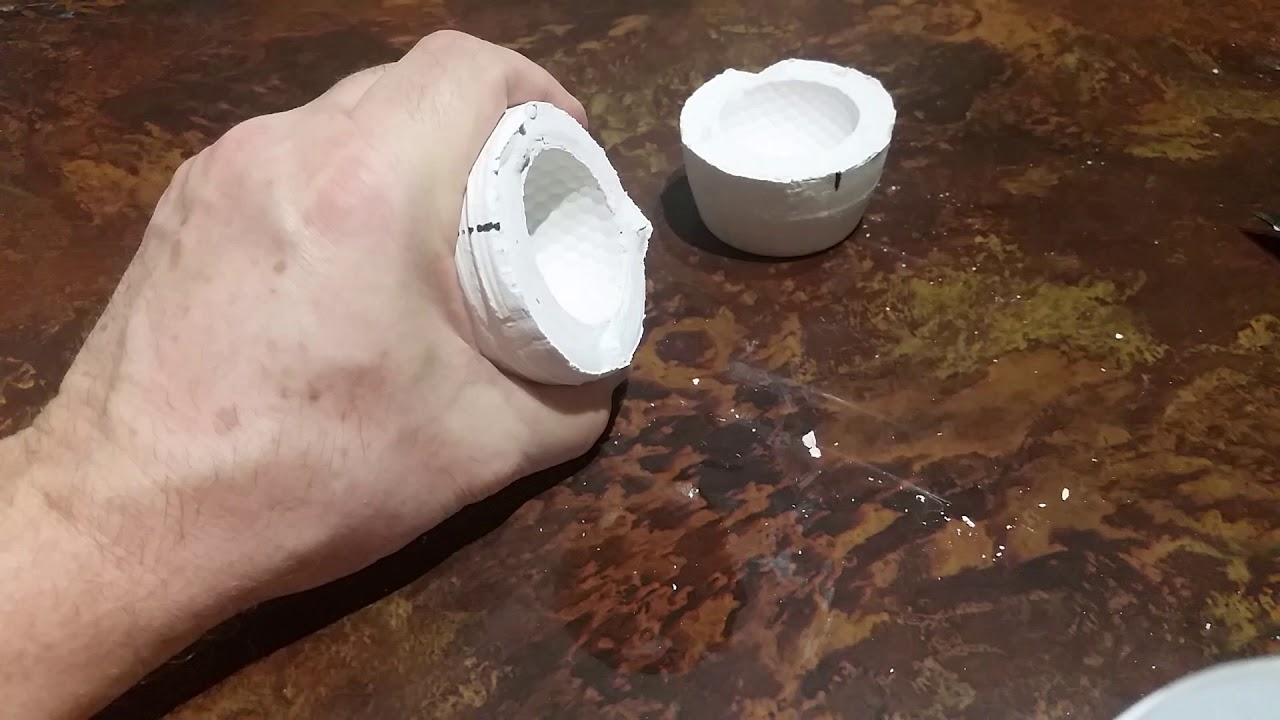 Plaster of paris mold - casting aluminum golf ball