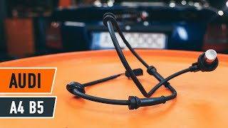 Jak vyměnit Snímač otáček kola abs AUDI A4 (8D2, B5) - video průvodce