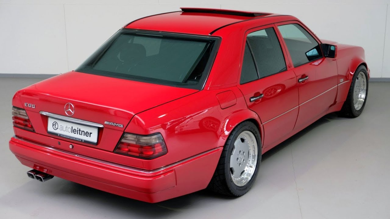 1995 mercedes e60 amg w124 red rare expensive youtube. Black Bedroom Furniture Sets. Home Design Ideas