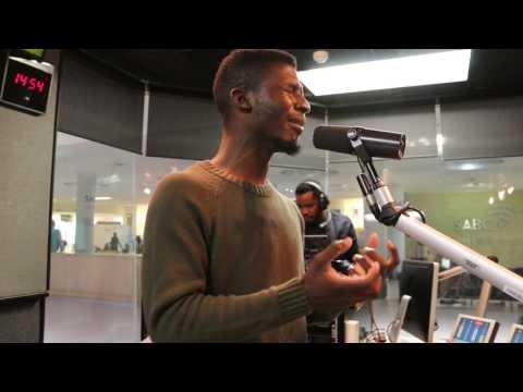 ..@MoganeKarabo sings Ngithandile on #TheGreatEscape