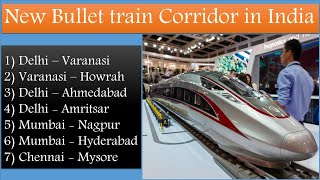 Bullet Train route in India | Proposed High speed rail corridors in India | Papa Construction
