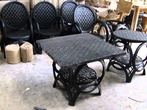 Recycled rubber tire factory 2012 youtube for How to make tire furniture