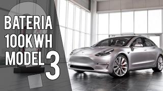 No habrá TESLA MODEL 3 con batería de 100 kWh