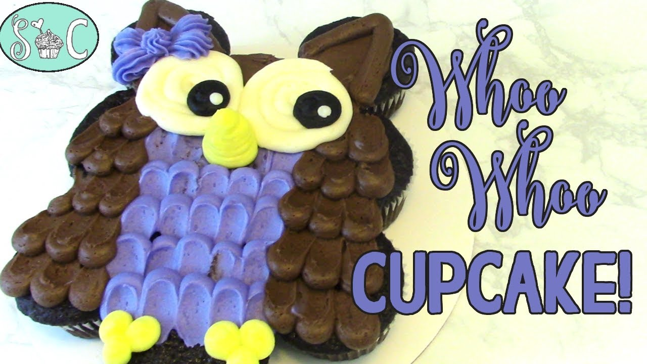 Make A Cute Owl Cake With Cupcakes And Buttercream Frosting