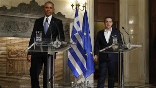 Obama and Greece Prime Minister Discuss Global Economy