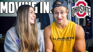 MOVING IN!? HOW WE MET?? 7 WEEKS OUT OHIO STATE POWERLIFTING