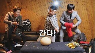 [타조알,코코넛 깨기] Breaking Ostrich Egg (ENG/JPN)  - 쿠쿠크루(Cuckoo Crew)