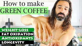 How to make COFFEE with GREEN COFFEE BEAN || how to purchase, weigh, grind, boil + caffeine levels