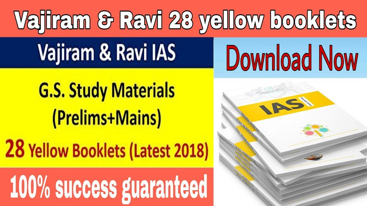 Vajiram And Ravi 31 Yellow Booklets [2019 Latest] ||Download Now