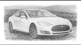 How to draw: Tesla (car)