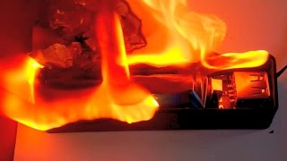 Li-Ion Power Bank - Short Circuit and Fire. Experiment Gone Wrong.