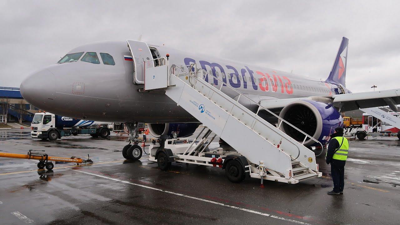 Airbus A320neo а/к SmartAvia   Рейс Санкт-Петербург - Мурманск