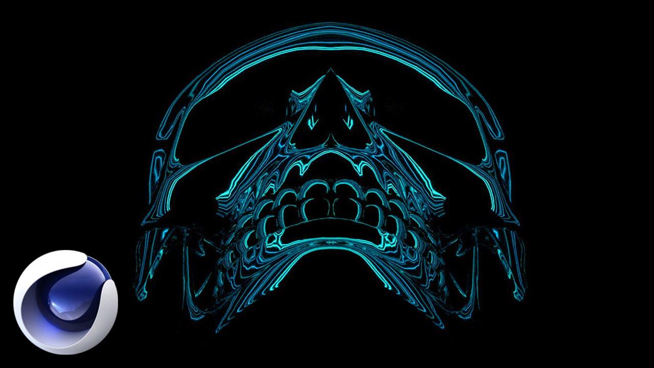 Cтильная композиция с черепом в Cinema 4D