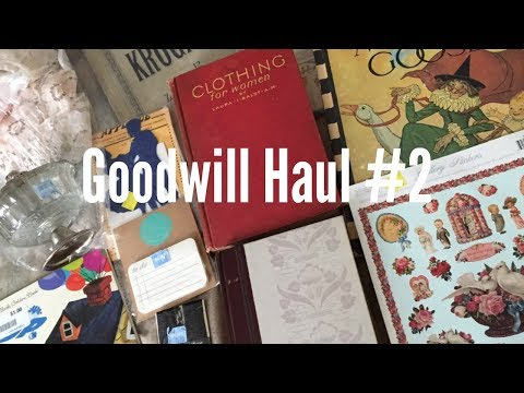 Goodwill Haul #2 | Vintage Lace, Books, & Sheet Music for Junk Journal Ephemera!!!