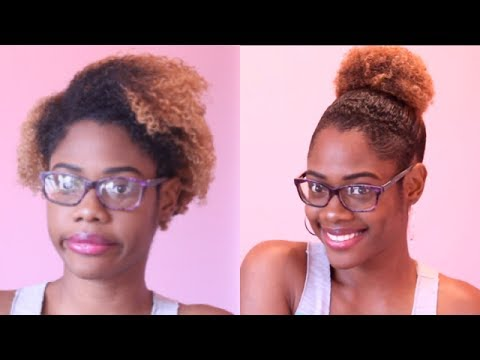 short hair styles for natural hair sleek high bun trick for hair 8727 | hqdefault