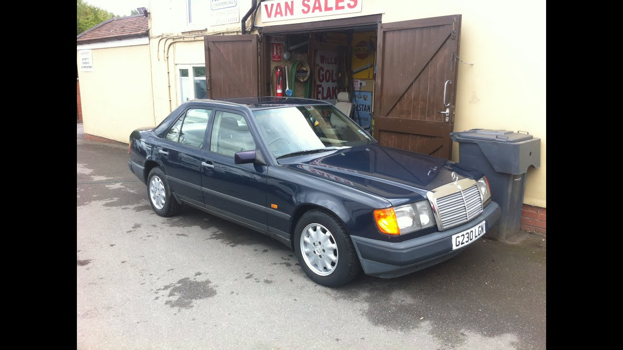 1989 mercedes benz 230e saloon car review youtube for Mercedes benz 230e