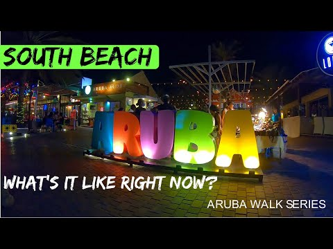 Walking at night in Aruba during the Covid19 Pandemic