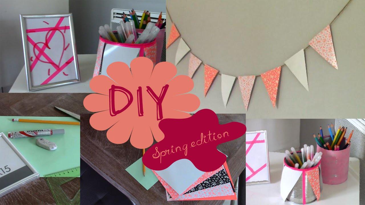 DIY#1 : Décore ta chambre, édition printemps !! - YouTube