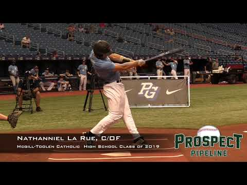 Nathaniel La Rue Prospect Video, C OF, McGill toolen Catholic High School Class of 2019